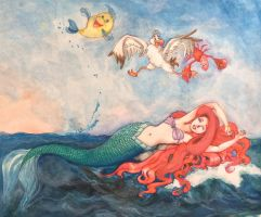 Birth Of Ariel by kimlasca