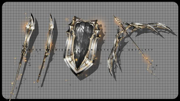 WEAPON and SHIELD design set #1 by 10721