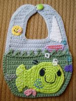 Crochet Arty The Smarty Bib by meekssandygirl