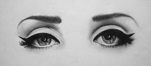 Lana Del Rey's eyes by iKammy