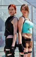 Lara Croft and The Doppelganger Cosplay by Athora-x