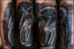 Giger's Necronomicon tattoo by grimmy3d