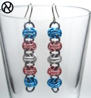Trans Pride Drop Earrings by Zeroignite