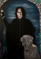 Snape and Fang by Vulkanette