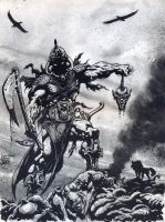 Frank Frazetta's Death Dealer by avix
