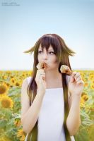 Alice with sunflowers 2 by CrazyRabbit