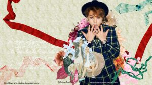 Junhyung Flower Wallpaper [sizes available] by Love-and-Blades