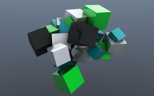 Abstract cubes by CanFood
