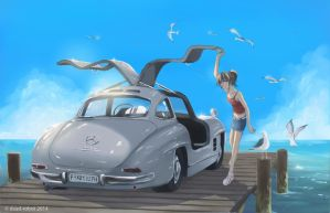 Mercedes 300 SL by dead-robot