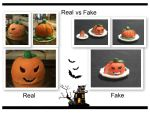 Grinning Pumpkin Cake Real vs Fake by emiko-chan