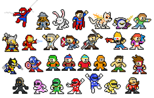 29 Mega Man Leftovers by captainslam