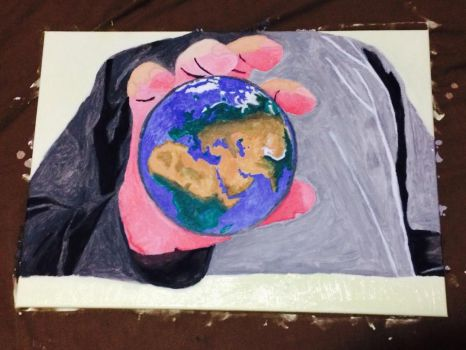 My Hand holding Earth part 3 by Aboodi22