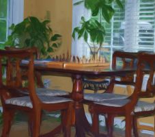 Table and Chess by octaputer