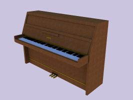 3D Kawai CX5N Upright Piano by pete7868