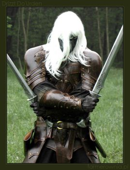 Drizzt Do'Urden -  half by farmerownia