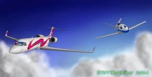 Alyssa and Skyler Flying (For HappyJet50) by B737TheAirliner
