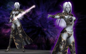 Mystial the Dark Elf - Old by Primantis