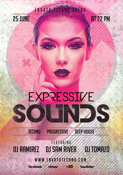Expressive Sounds Flyer PSD Template by AudioNeptune