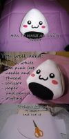 How to make an onigiri plush by kikiotaku87