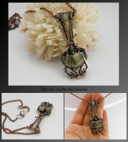 Derwa- wire wrapped pendant by mea00