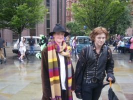 MCM 2014 -  4th Doctor And Guy by InsaneSpyro