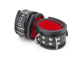 Black, Red lined Cuffs by Me-Se