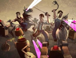 Manor Club vs the Robot Horde by charco