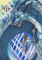 ACEO - Blue Moon by awaicu