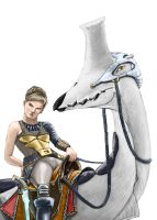 Numernera: Rider and Mount by Apep70