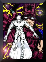 Galactus and Silver Surfer by Lpsalsaman