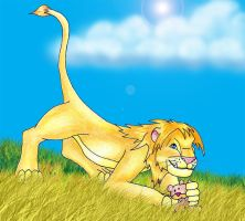 teh lion by CursedNight
