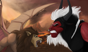 Scorpan vs Tirek by boomythemc