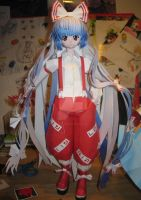 Papercraft Mokou by Rika-strife