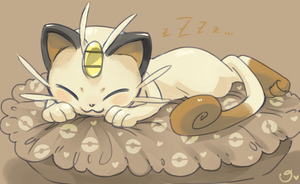 Sleepy Meowth by magicalondine