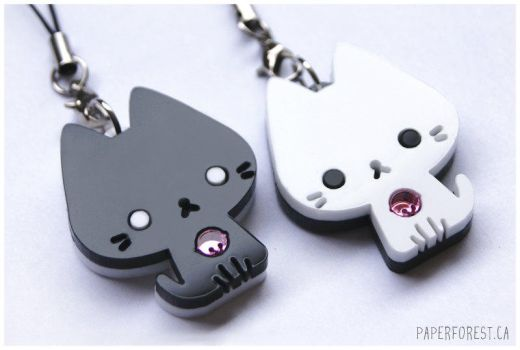 Black and White Kitties 2 by littlepaperforest