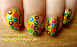 31 Day Challenge, Day 3: Yellow Nails by nightskynaildesign