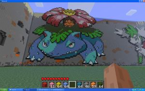 Venusaur On Minecraft by Miccopicco