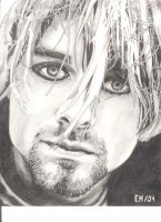 kurt cobain drawing by emtheoneandonly