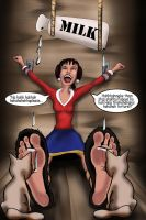 Olive Oyl Vs Milk by Bigfootfantasies