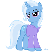 Trixie in a hoodie by ViktorNewman