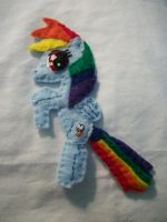 Rainbow Dash Handmade Mini Felt Pocket Pony 2 by grandmoonma