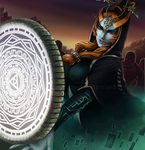 Midna in Battle by VanEvil