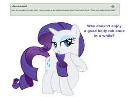 Ask Rarity question #1 by RarityVore