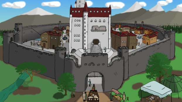Medieval Fort and Manor by GlinTrue