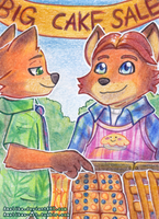 ACEO #46 - Blueberry-Carrot-Cake by Amalika