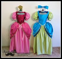 Wicked Stepister Gowns Set by Durnesque