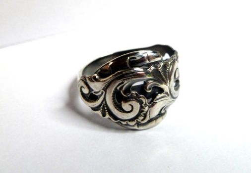Rosepainting ring in silver by LARvonCL