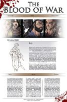 The Blood of War Concept  Website 2 by DrawlinesMisfits