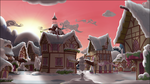 Ponyville Dawn, snowy by Stinkehund