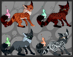 Candletail Ghasts batch #1 -closed- by mokkou